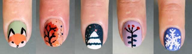 5 diseños de uñas decoradas sin herramientas