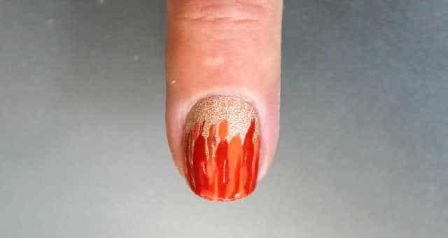 uñas decoradas fuego paso a paso
