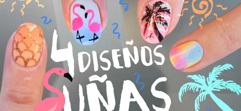 4 diseños decoración de uñas verano paso a paso