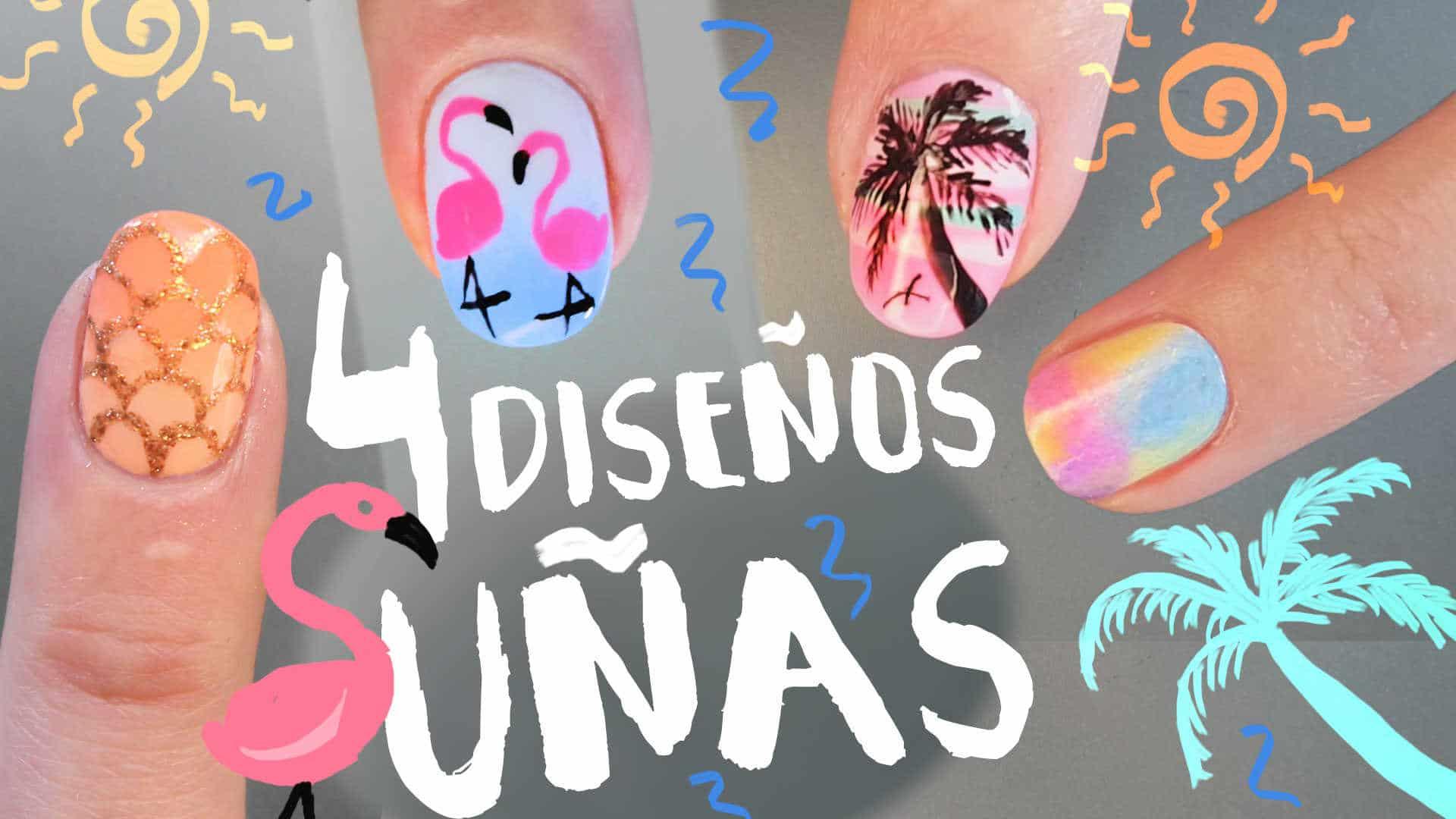 DECORACIÓN DE UÑAS: 4 IDEAS LINDAS PASO A PASO - Nailistas ...