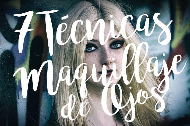 7 tecnicas de maquillaje de ojos para principiantes