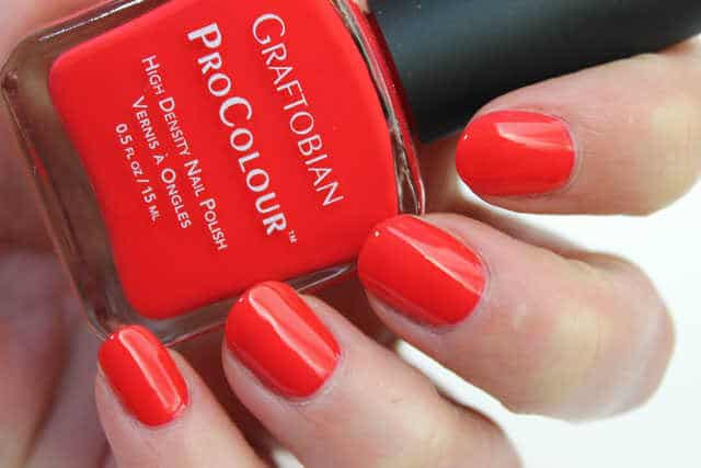 spicy coral graftobian swatch
