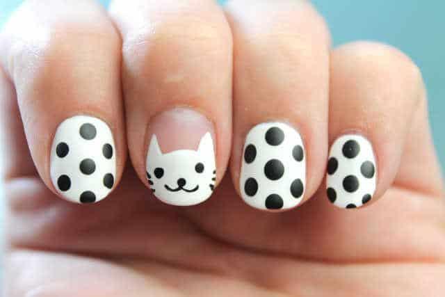 gatos blancos uñas paso a paso tutorial nail art