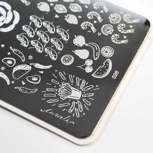 placa de estampación uñas stamping nail art