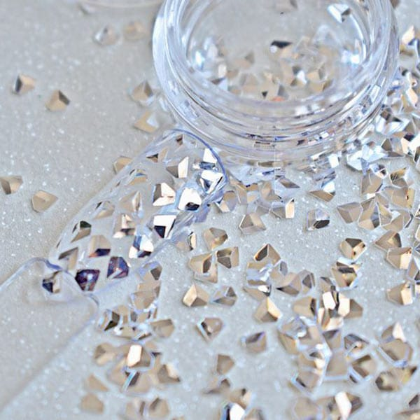 Tachuelas plata forma de diamante
