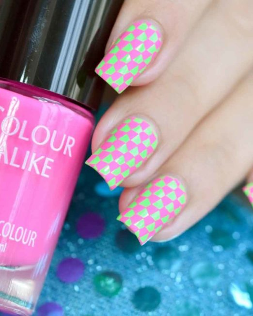 Colour Alike Fuchsia Flash Stamping Polish