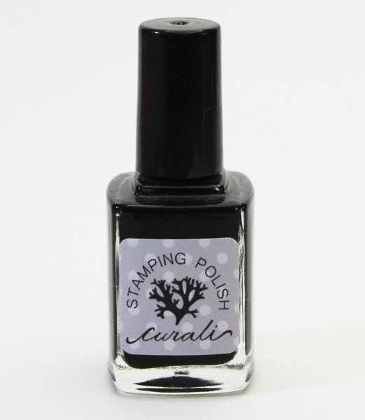stamping nail polish curali black