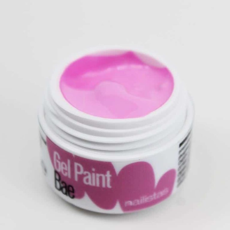 Gel paint nail art gel painting rosa