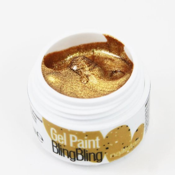 Gel paint nail art gel painting dorado