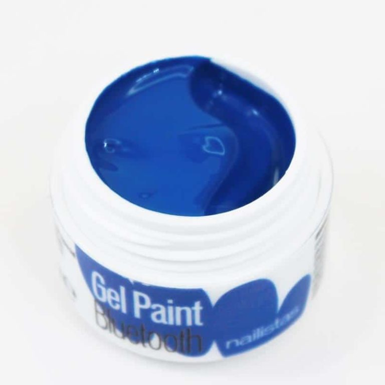 Gel paint nail art gel painting azul