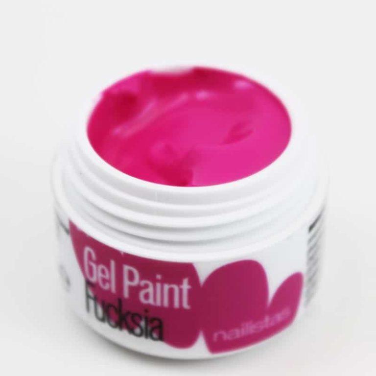 Gel paint nail art gel painting fucsia
