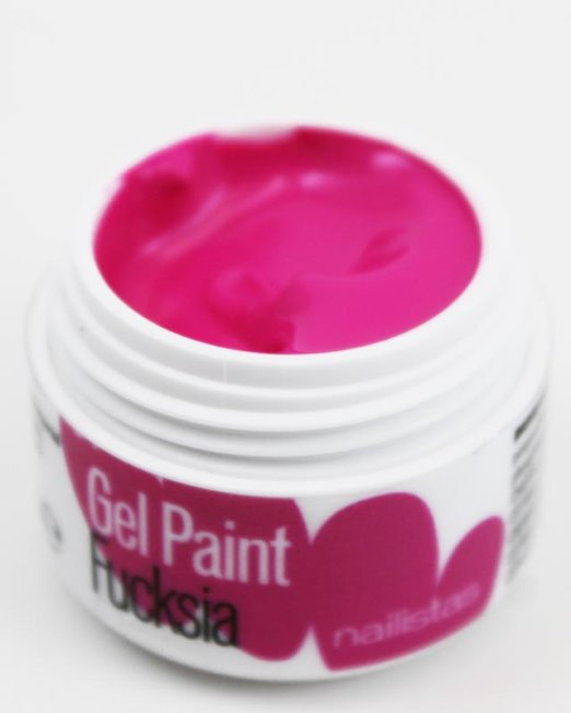 Gel paint nail art gel painting fucsia