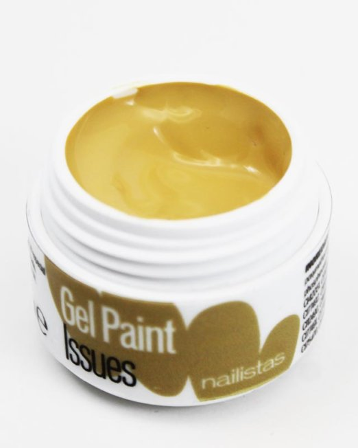 Gel paint nail art gel ocre