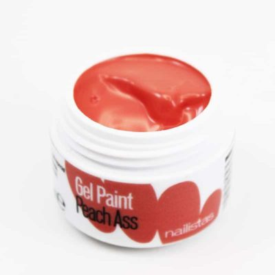 Gel paint nail art gel coral