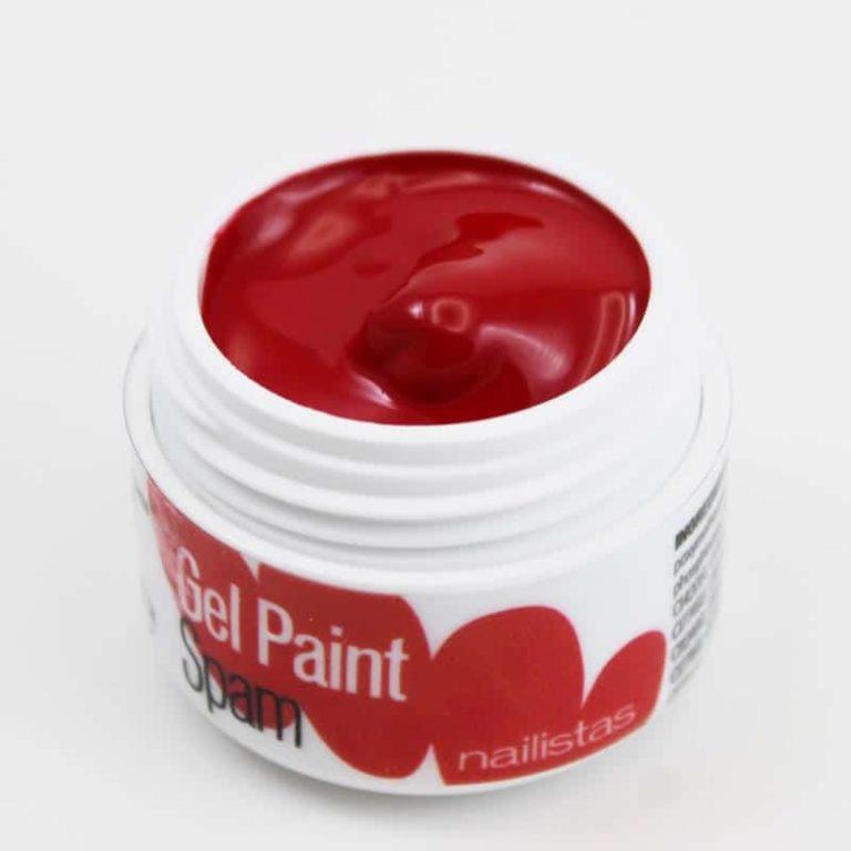 Gel paint nail art gel painting rojo oscuro