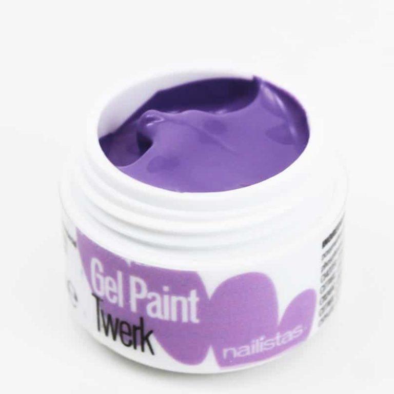 Gel paint nail art gel painting morado violeta