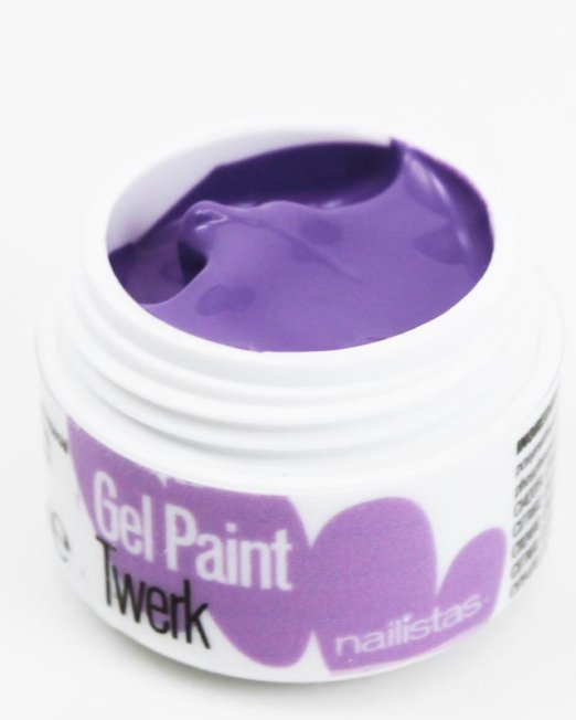 Gel paint nail art gel painting morado violeta