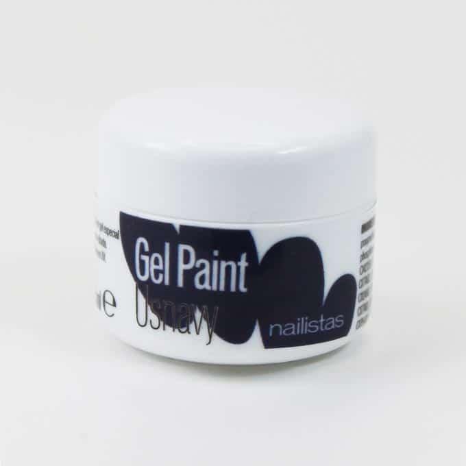 Gel paint azul marino para decoración de uñas y nail art