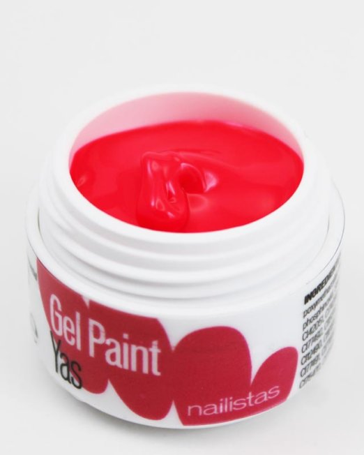 Gel paint nail art gel painting rosa flúor