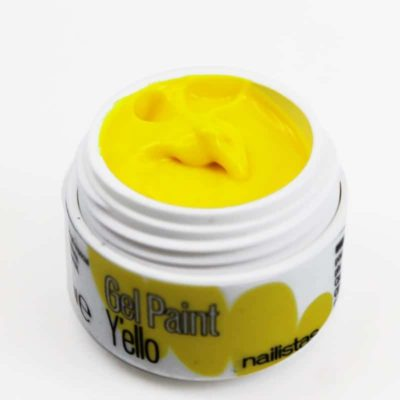 Gel paint nail art gel painting amarillo flúor