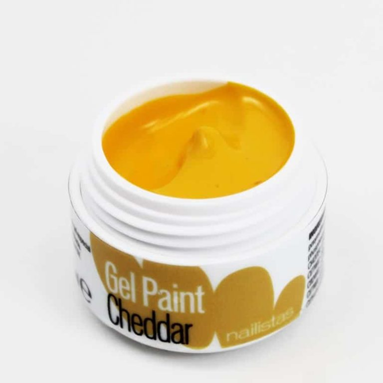 Gel paint nail art gel painting amarillo mostaza