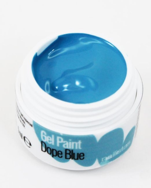 Gel paint nail art gel painting azul cielo