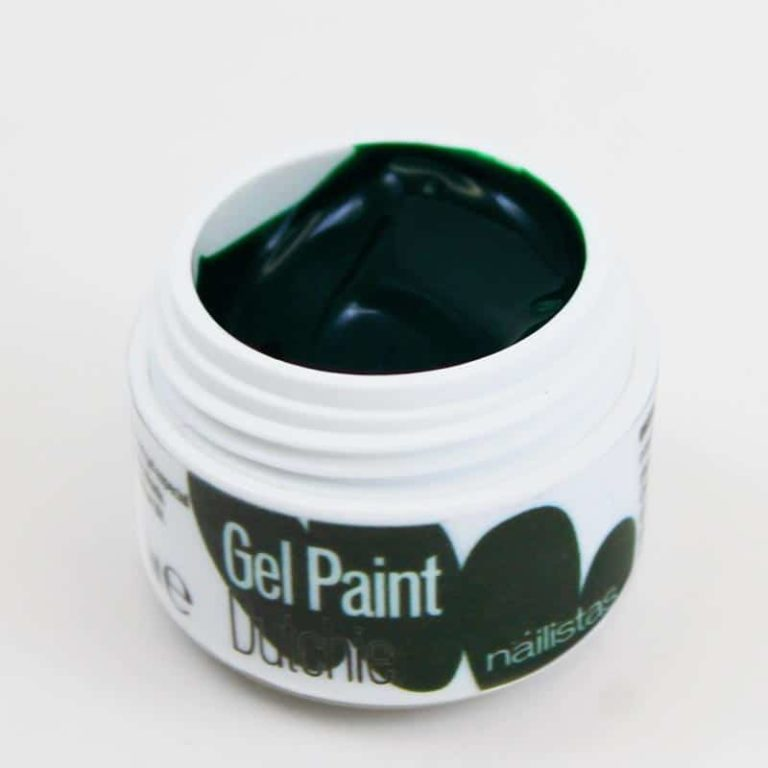 Gel paint nail art gel painting verde oscuro