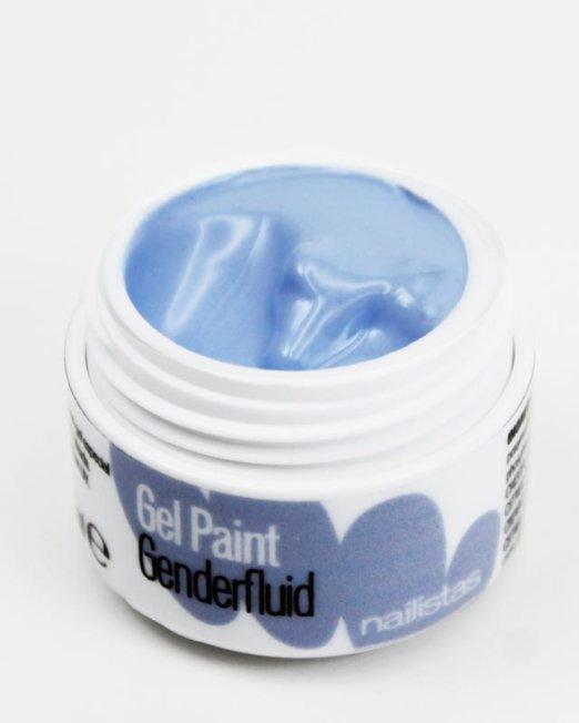 Gel paint nail art gel painting azul claro