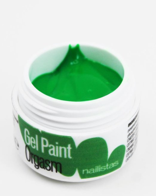 Gel paint nail art gel painting verde flúor