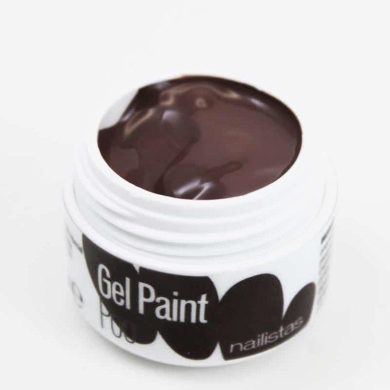 Gel paint nail art gel painting marrón