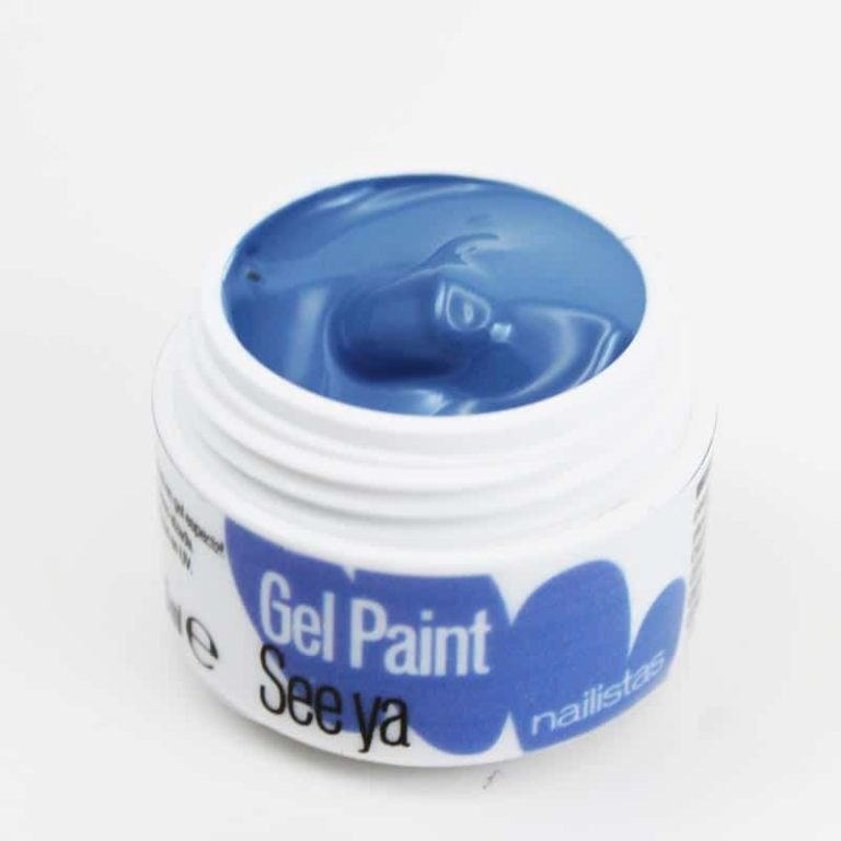 Gel paint nail art gel painting azul bebé