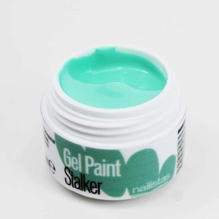 Gel paint nail art gel painting verde menta