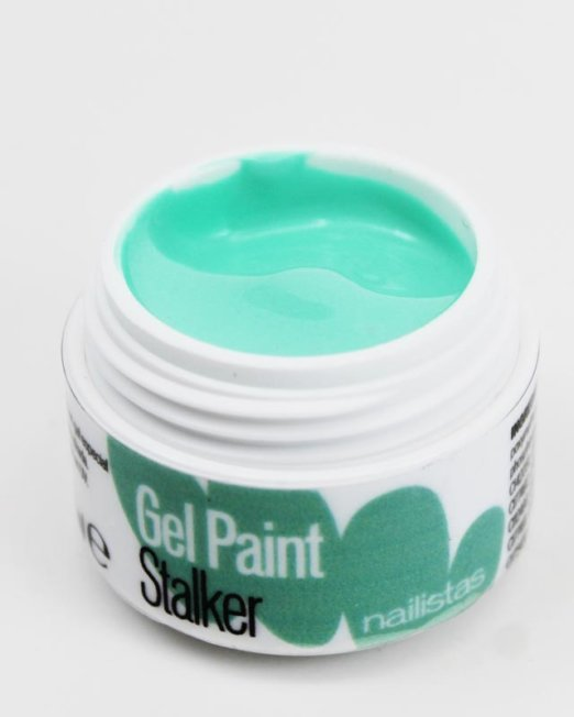 Gel paint nail art gel painting verde menta