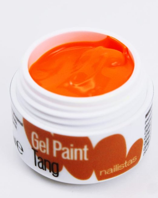 Gel paint nail art gel painting naranja flúor