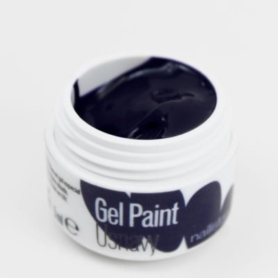 Gel paint nail art gel painting azul oscuro marino