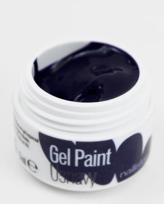 Gel paint nail art gel painting azul oscuro marino
