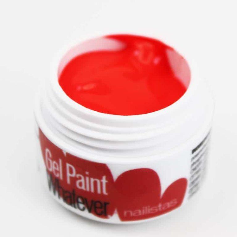 Gel paint nail art gel painting rojo flúor