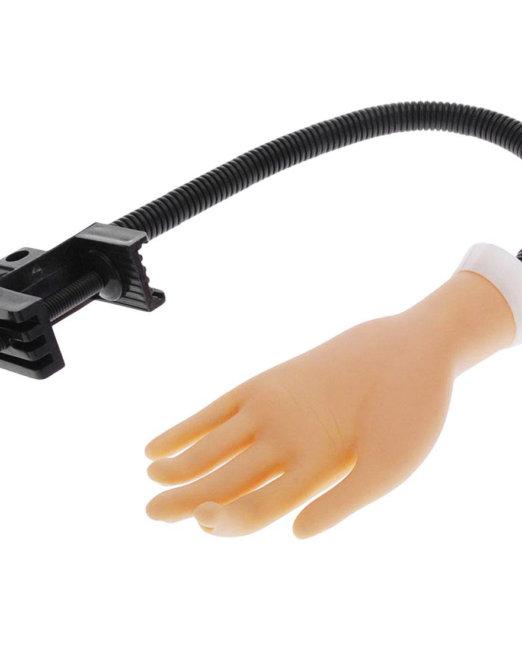 mano para prácticas de uñas esculpidas