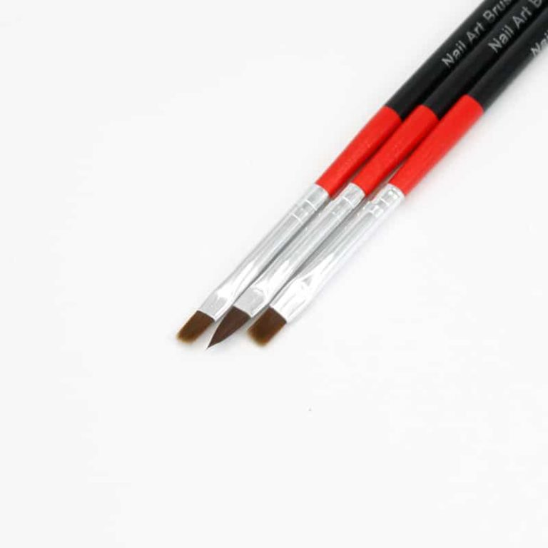 pincel de nail art plano
