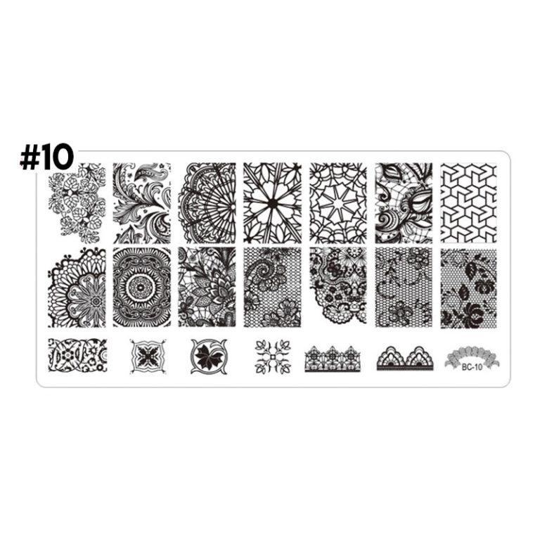 stamping plate uñas