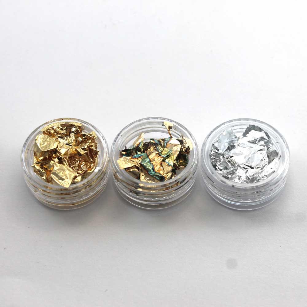 pan de oro para nail art
