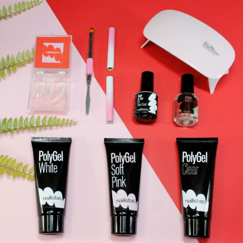 kit polygel acrygel starter lámpara UV