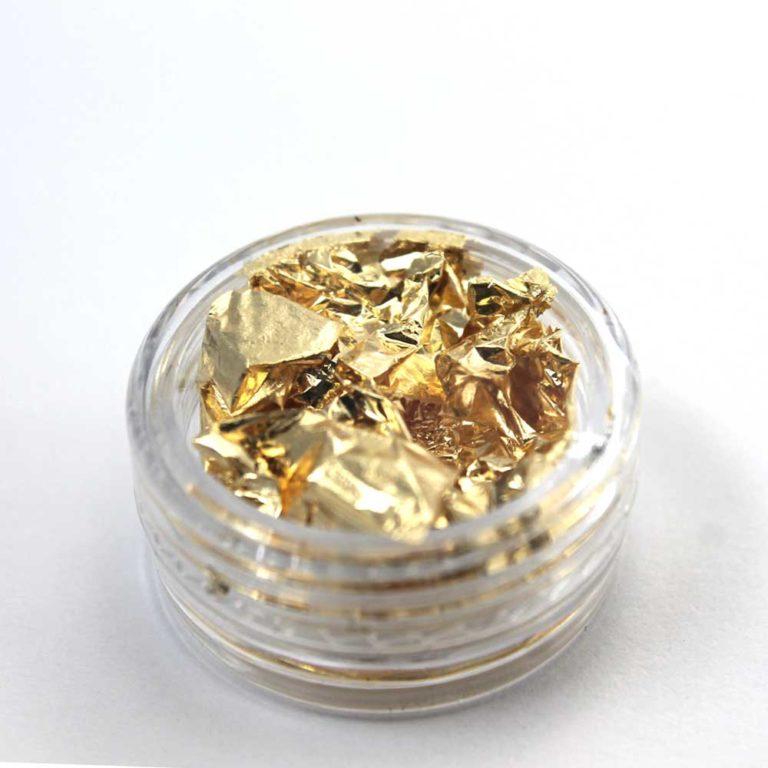láminas de oro para decoración de uñas y nail art
