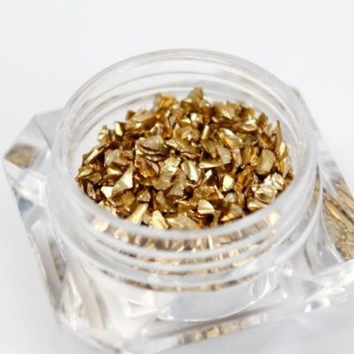 piedras doradas para nail art pepitas de oro