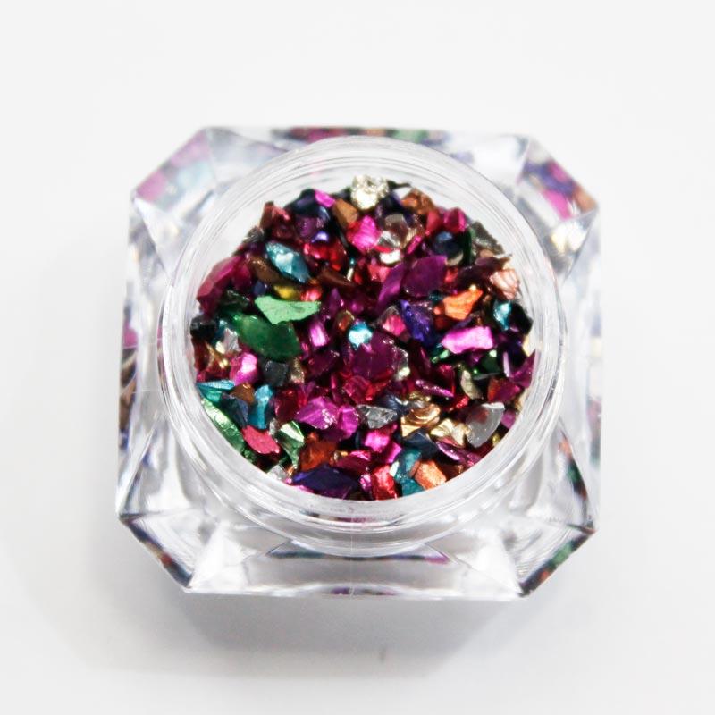 piedras metalizadas para nail art