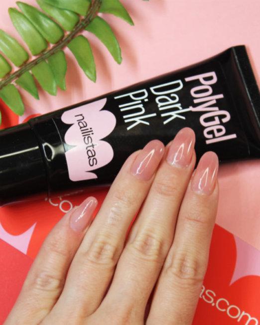 polygel rosa cover camuflaje