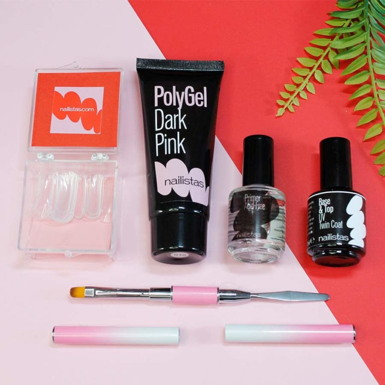 kit de polygel dark pink