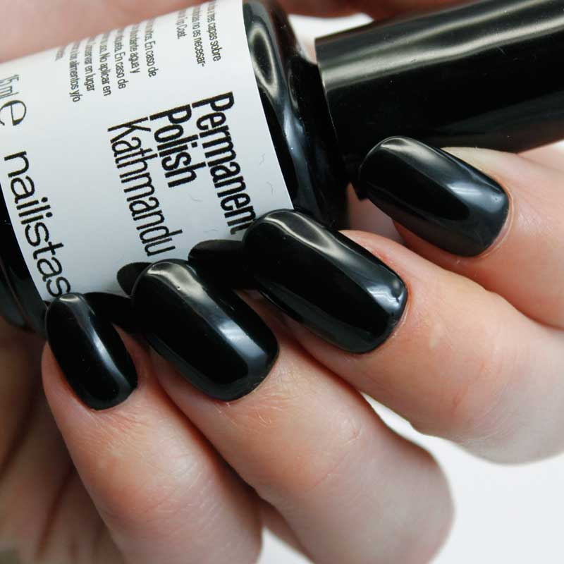comprar esmalte permanente negro cuero