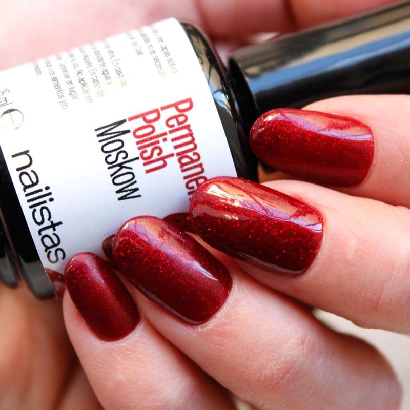 esmalte permanente rojo con purpurina comprar online