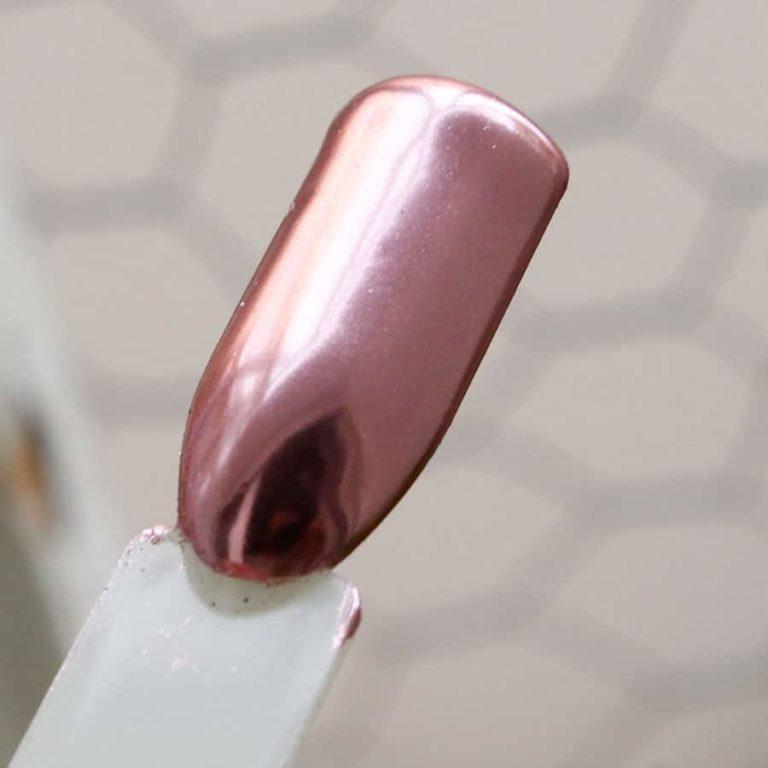 Polvo Efecto Espejo Rosa Mirror Nails